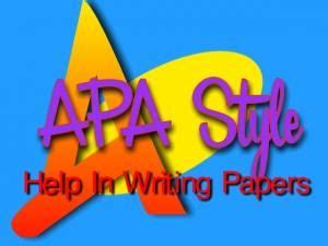 Example of a thesis statement in apa format